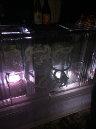 The Bull Sponsored the Ice Bar; Only a Few Drinks Slid Off