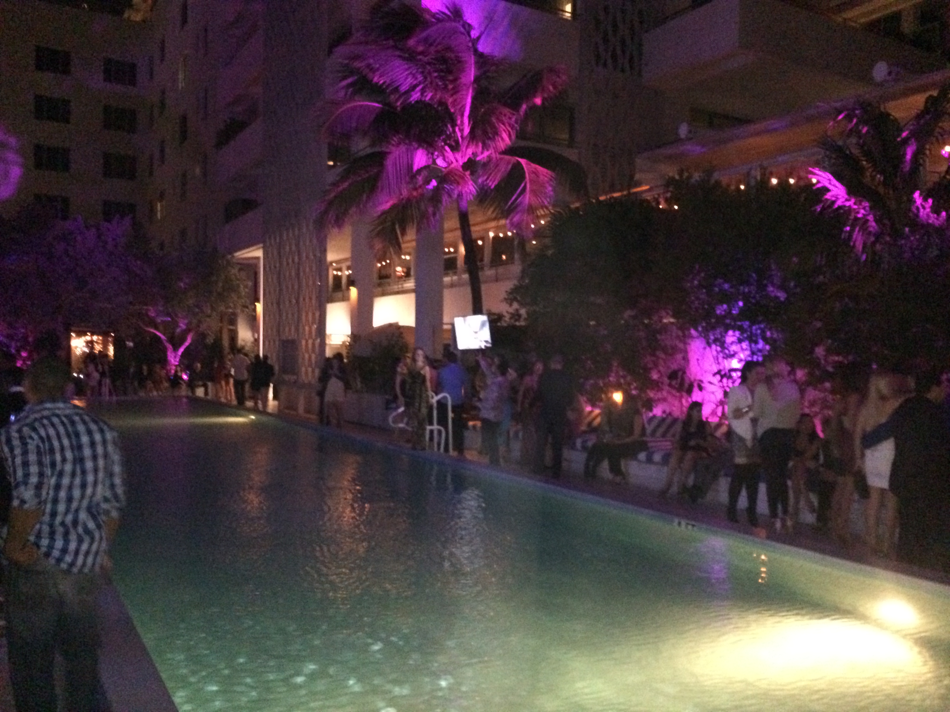 Soho House Miami Beach Pool Side Night
