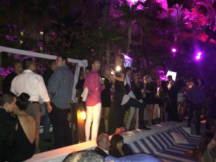 Revelers at Costa Hollywood Condo Party, Soho House Miami Beach