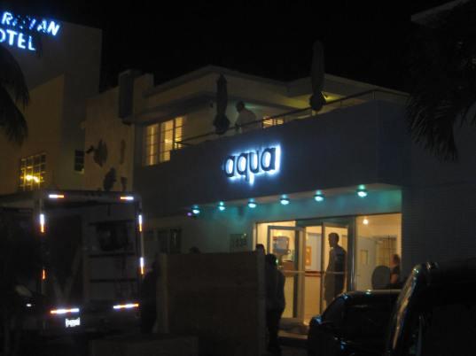 Blue Collars Moving Art into Aqua Hotel