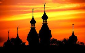 Sunset Over University of Tampa's Minarets